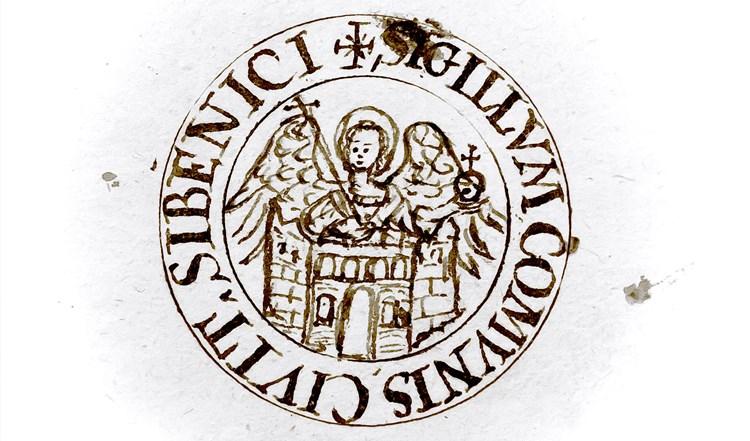 The City of Šibenik seal, 14th century