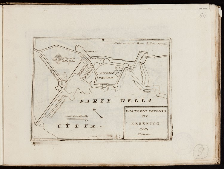Vincenzo Maria Coronelli, St. Michael's Fortress ground plan, 1688